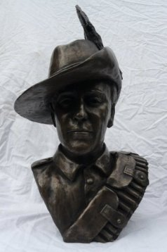 boer war soldier bronze bust