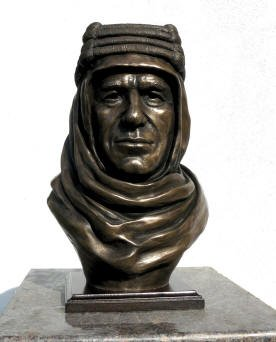 Lawrence of Arabia bronze bust