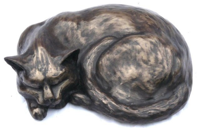 bronze cat sculpture