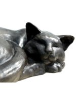 bronze cats by Peter Close