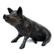 bronze pig sculpture