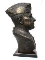 bronze military bust