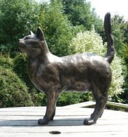 cat garden sculpture