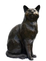 cat gift in bronze by Peter Close