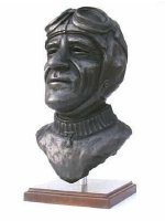 nuvolari bronze sculpture