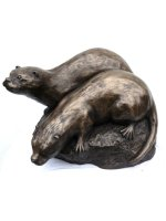 bronze otters