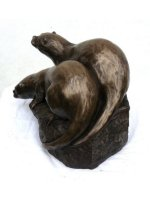 bronze wildlife sculpture