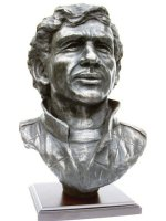 Ayrton Senna bronze sculpture